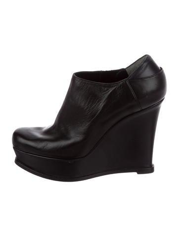Fendi Leather Wedge Booties None