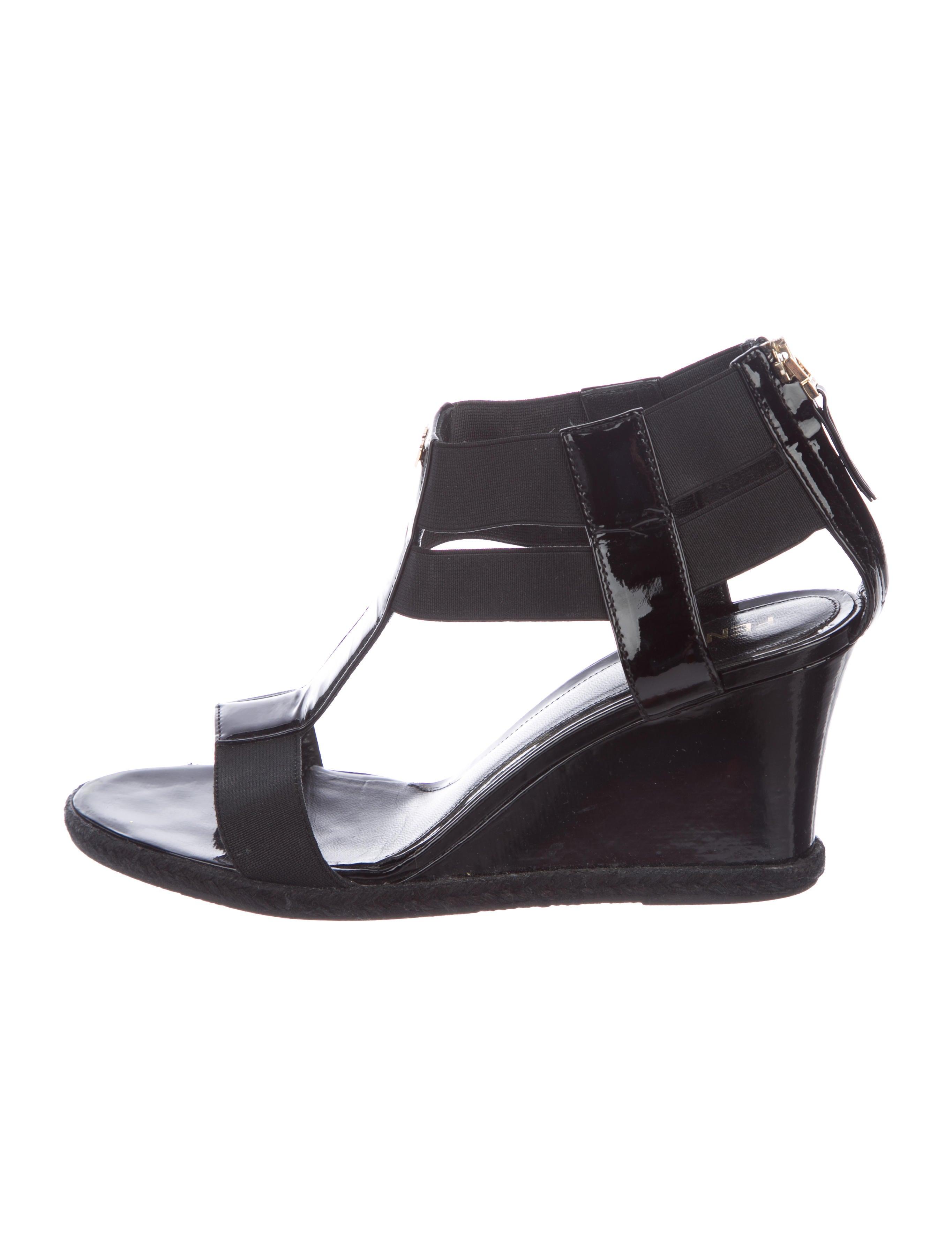 enjoy sale online Fendi Cutout Wedge Sandals latest for sale wUza2