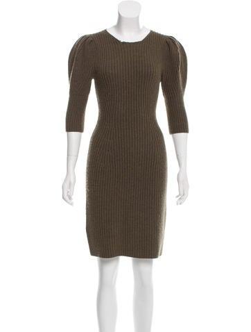 Fendi Rib Knit Mini Dress None