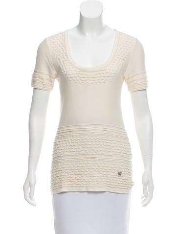 Fendi Short Sleeve Knit Top None