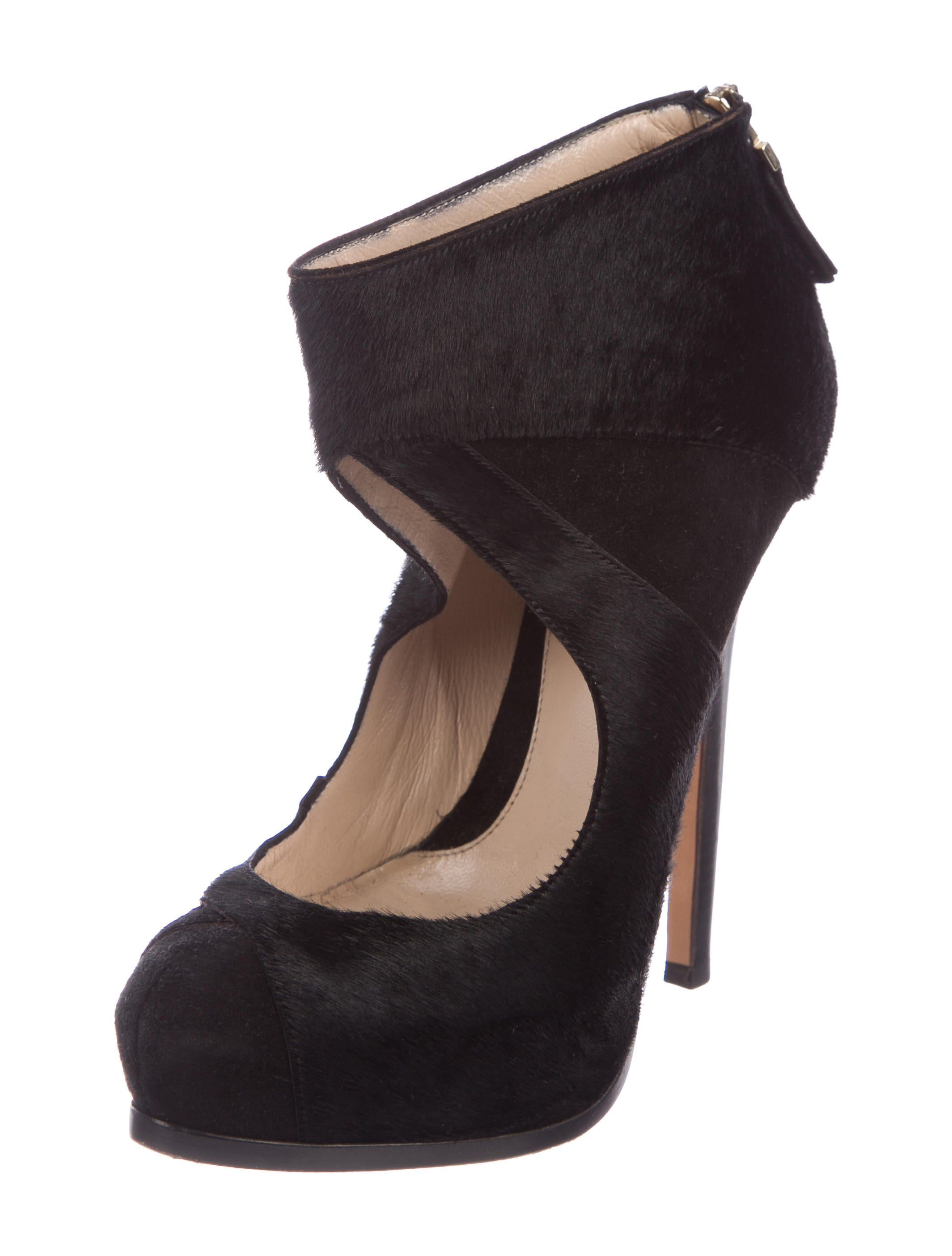 best prices sale online choice for sale Fendi Ponyhair Cutout Booties WpgpAj