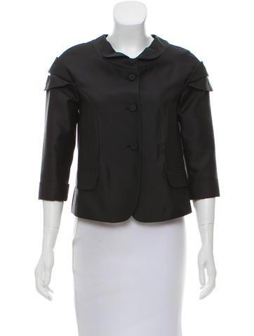 Fendi Silk-Blend Jacket None