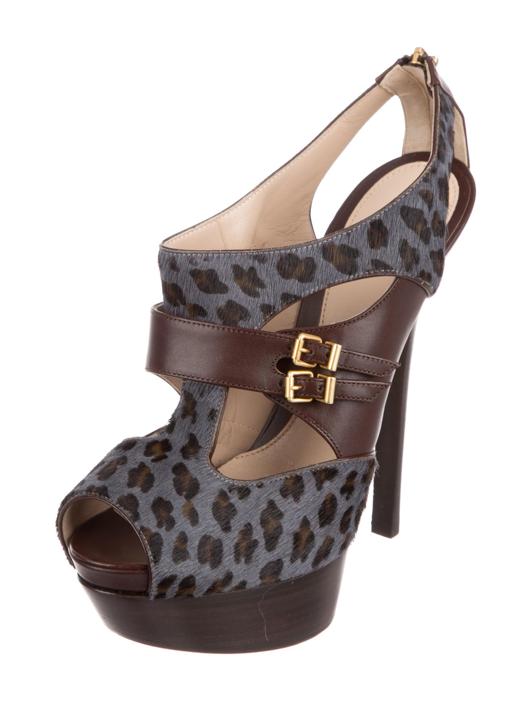 Fendi Animal Print Platform Sandals w/ Tags cheap sale latest collections pH4TtKGH
