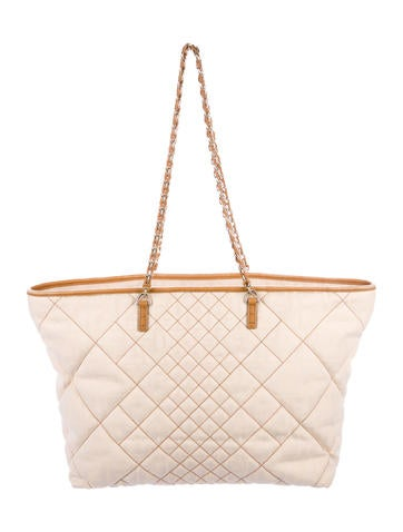 Fendi Quilted Zucca Chain-Link Tote None