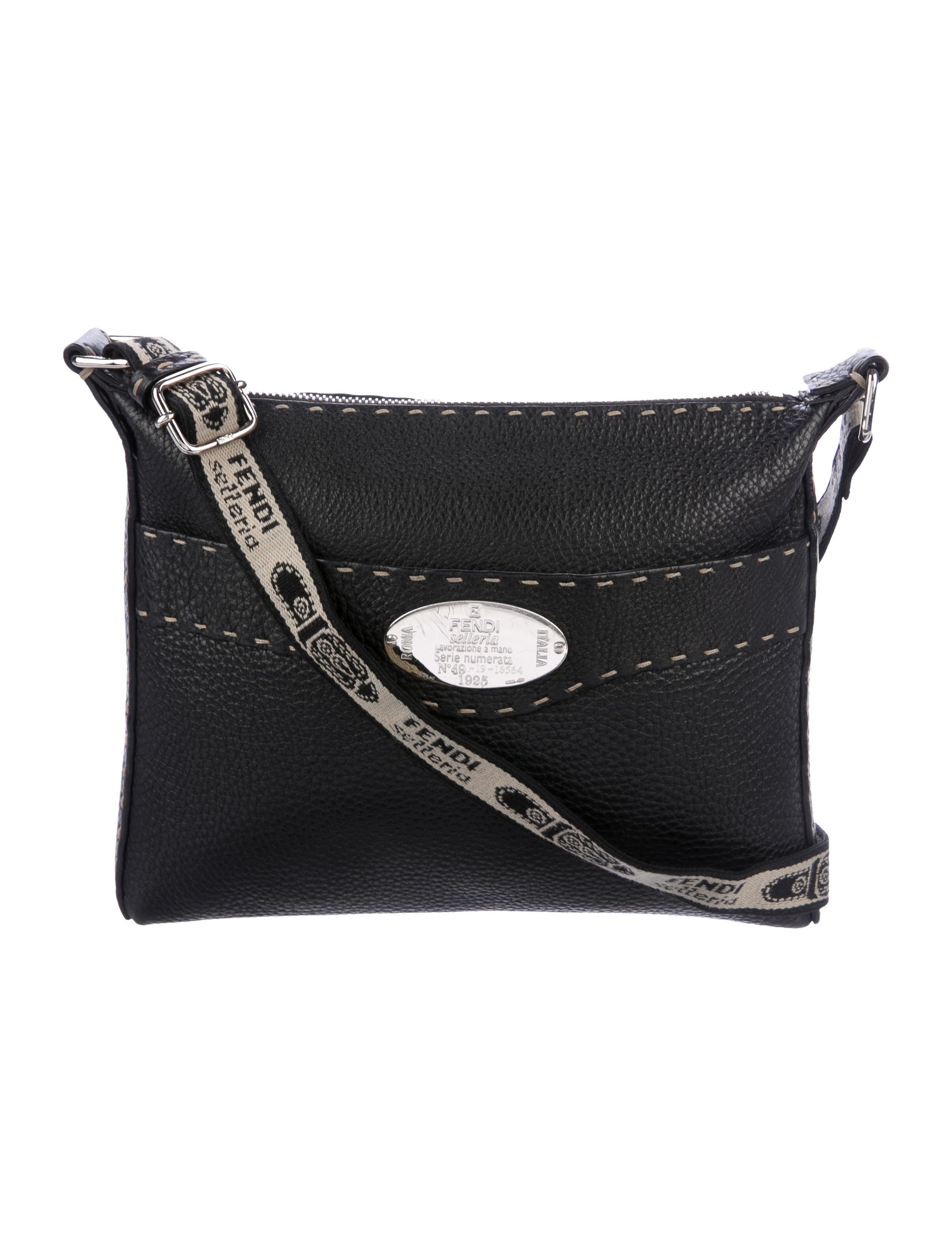 f508ba6d4249 Fendi Leather Selleria Crossbody Bag - Handbags - FEN73501