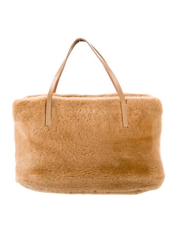 Shearling Handle Bag