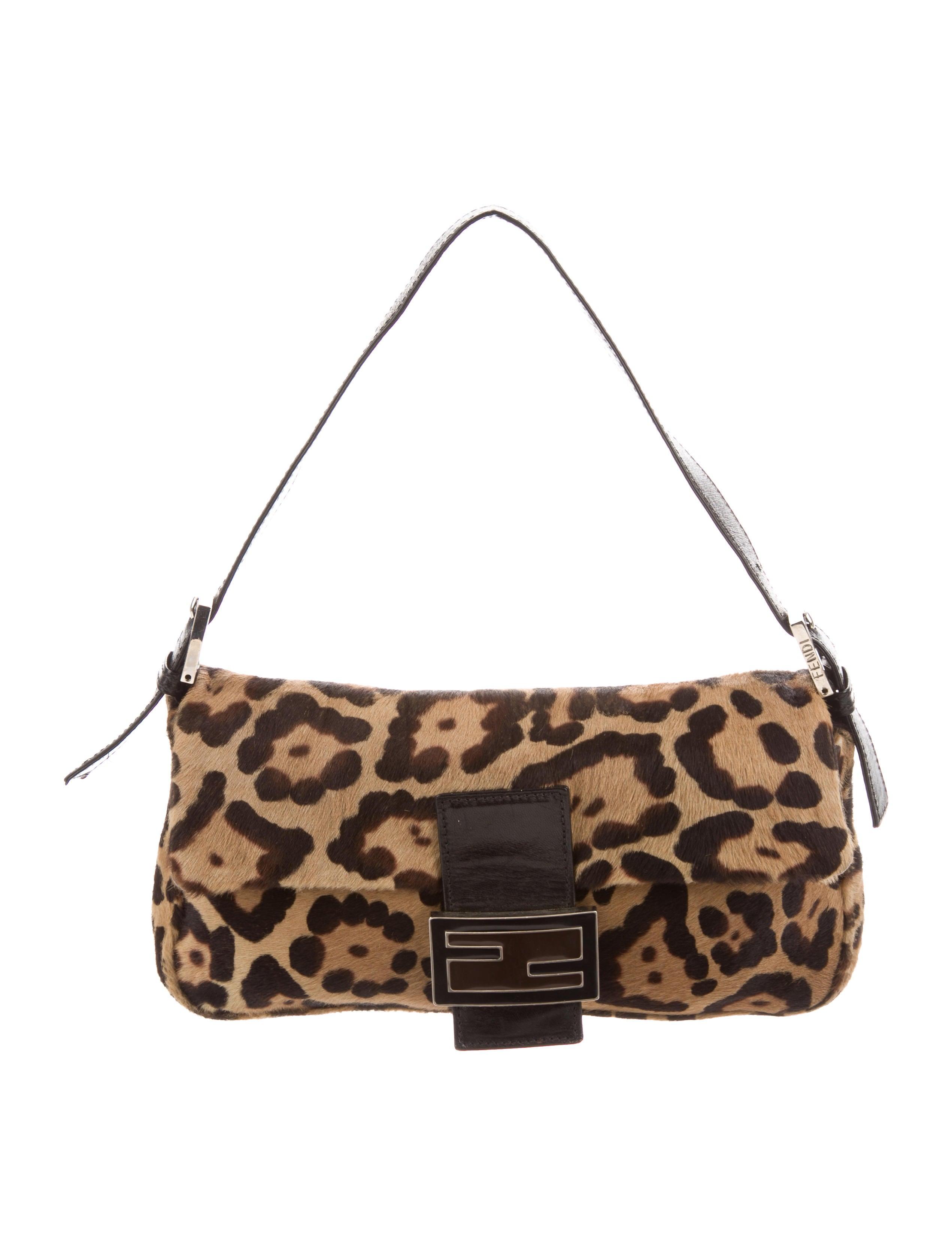 59521611d8 Fendi Animal Print Ponyhair Baguette - Handbags - FEN74109