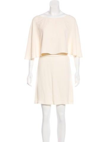 Fendi Silk Draped Dress None