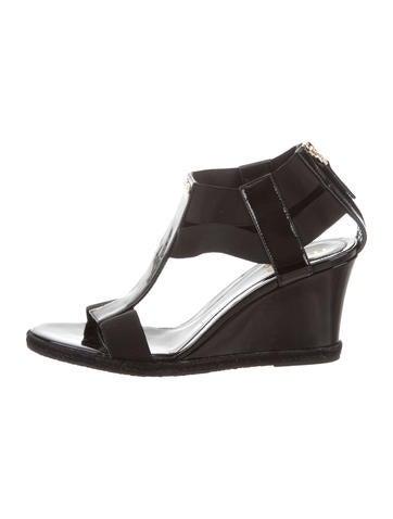 Fendi Cutout Wedge Sandals None