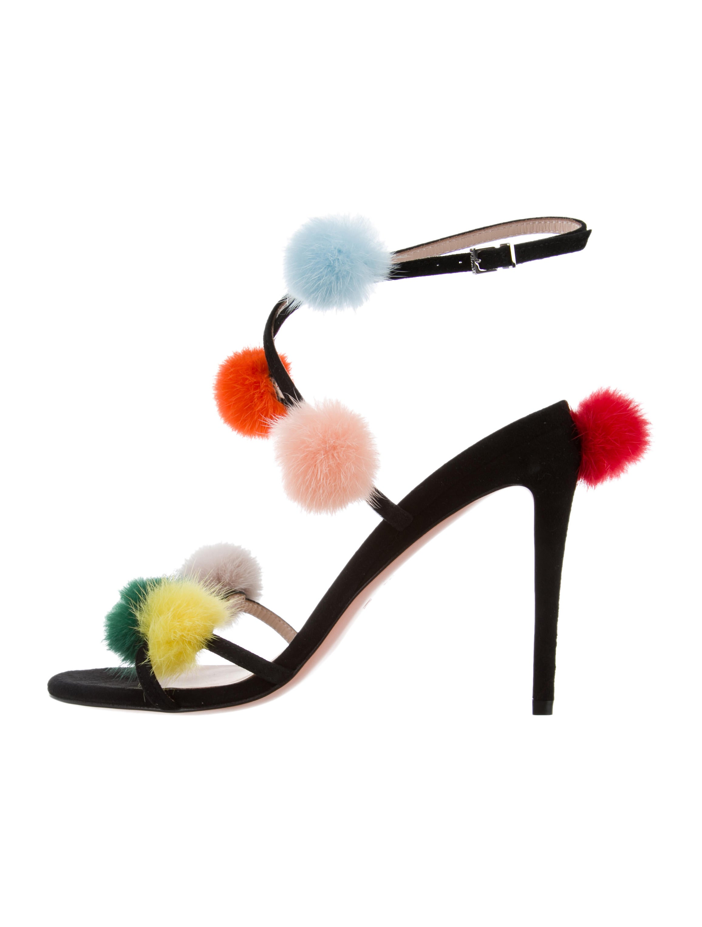 Fendi Mink Fur Pom-Pom Sandals w/ Tags buy cheap buy cheap online store Manchester factory outlet browse sale browse Q8dFKJ