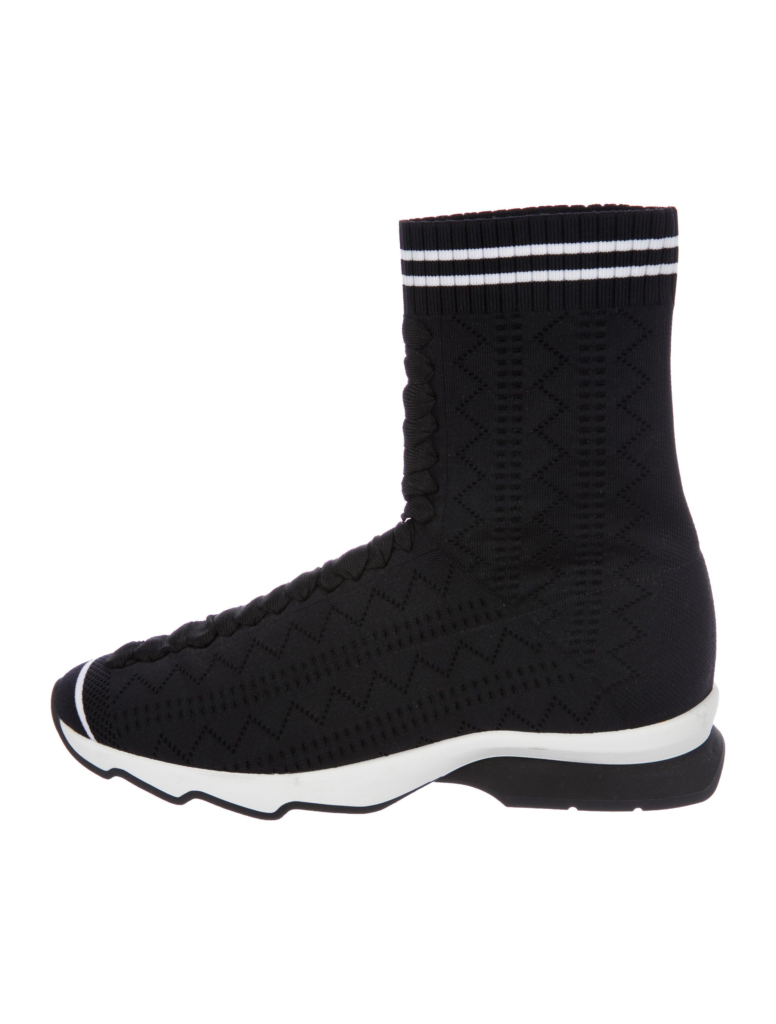 Fendi 2018 Zig-Zag Knit Sock Sneakers wiki discount clearance shop online discount visit G6EGn