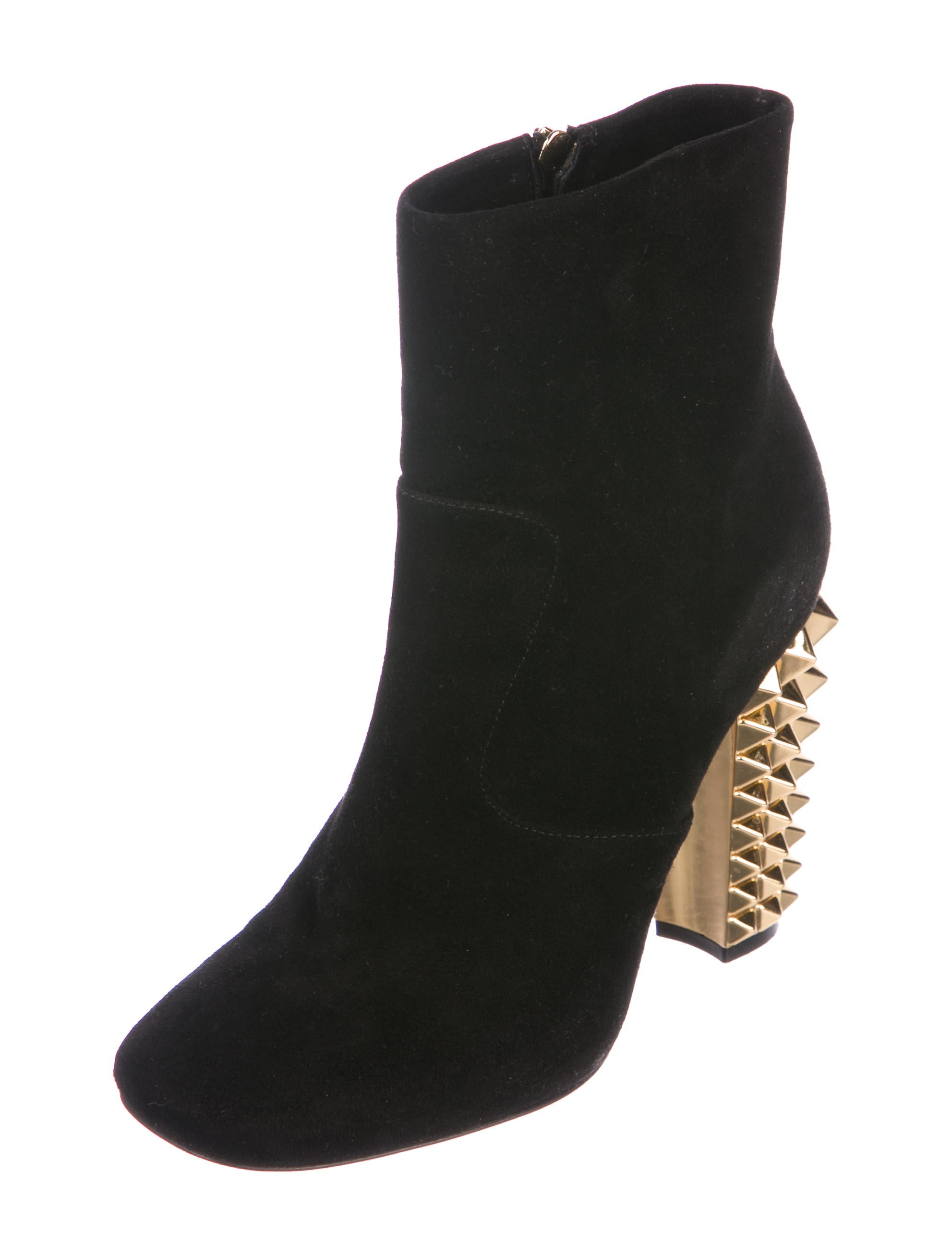 Fendi Suede Square-Toe Booties factory outlet cheap price sale countdown package 7dwH7PXx