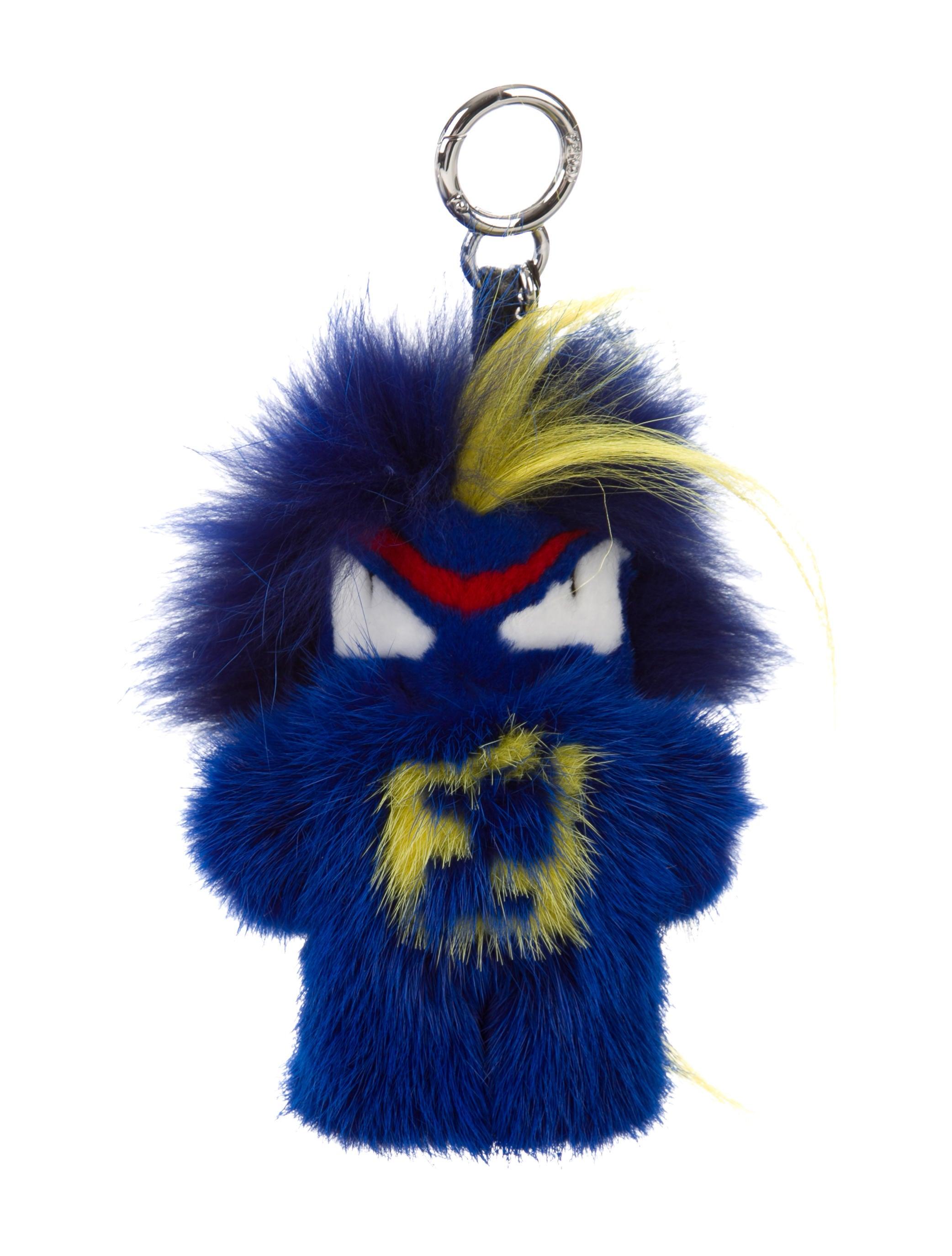 Fendi Mink Fur Fendirumi Bug-Kun Monster Bag Charm w  Tags ... 364313b73d7b8