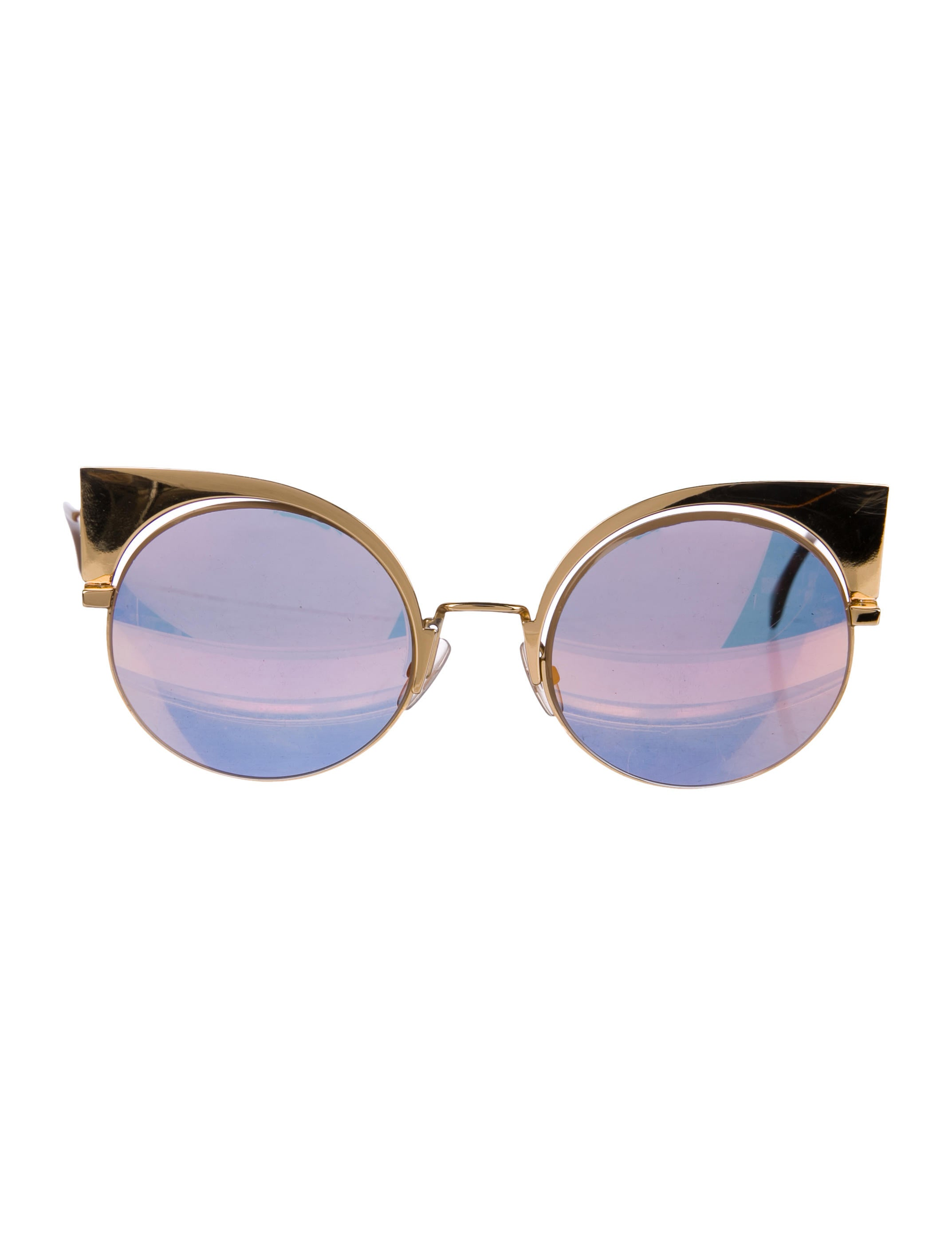 4f4ffb870cd Fendi Eyeshine Mirrored Sunglasses - Accessories - FEN77267