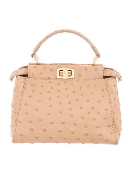 0d90eb4a3e0d Fendi Mini Ostrich Peekaboo Bag - Handbags - FEN78203