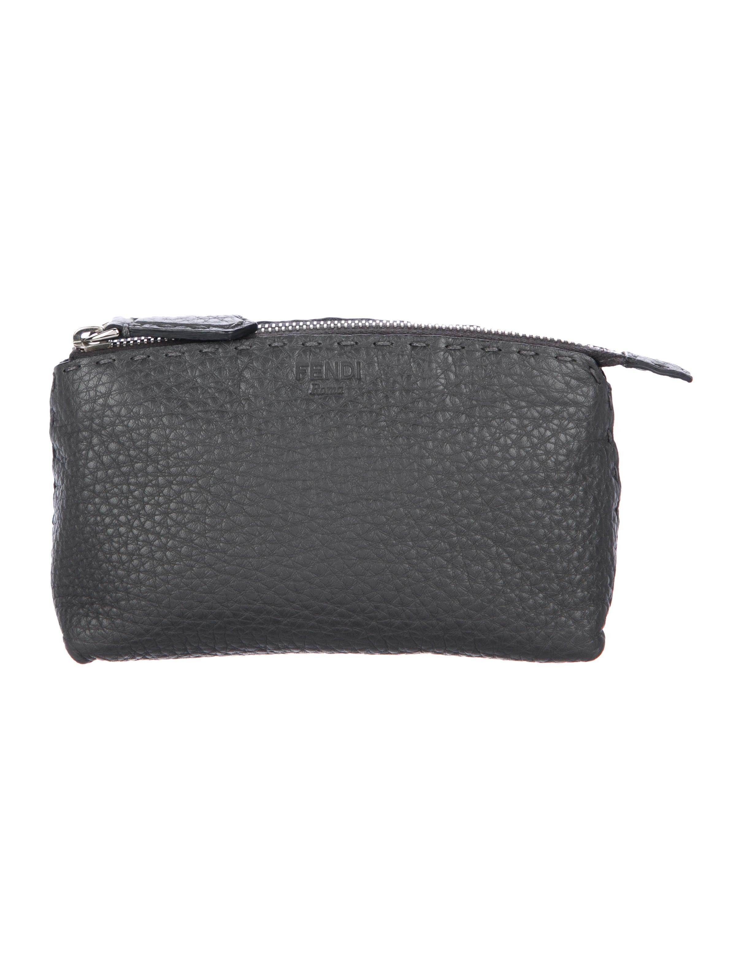 e04bc10692 Fendi Grained Leather Cosmetic Bag - Accessories - FEN78878