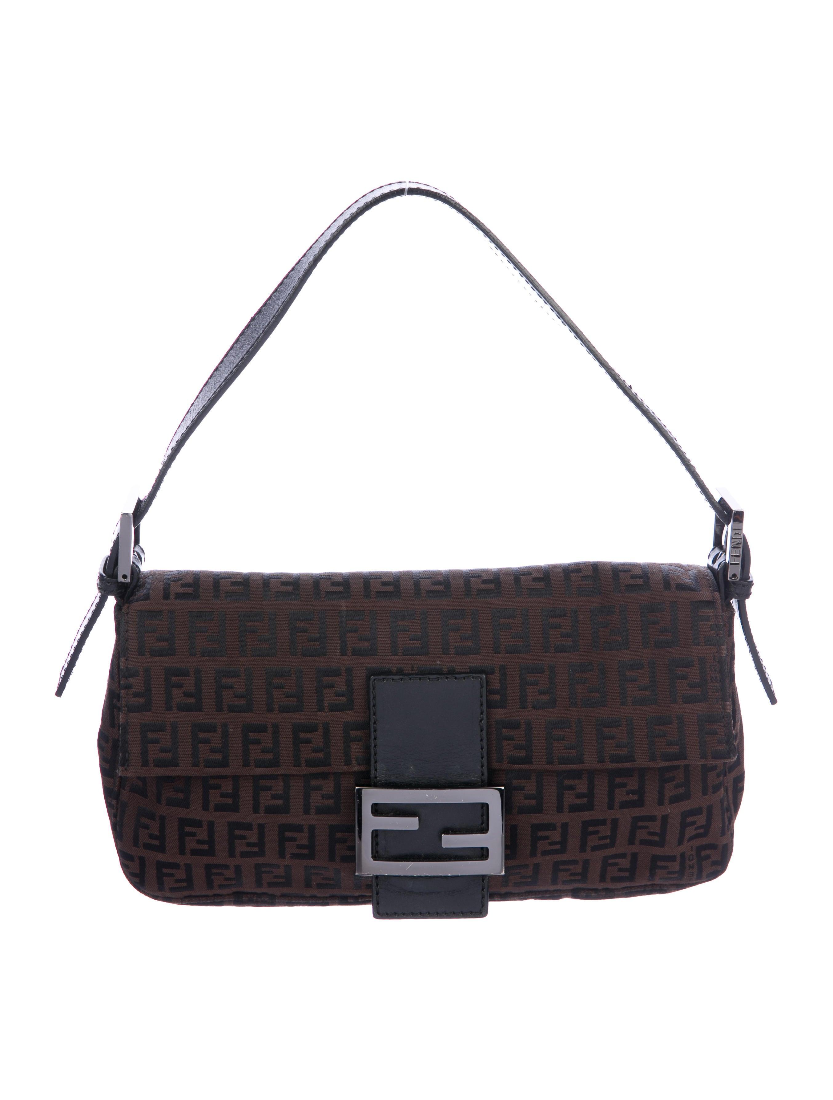 039ecbe960bb Fendi Zucchino Canvas Baguette - Handbags - FEN80797