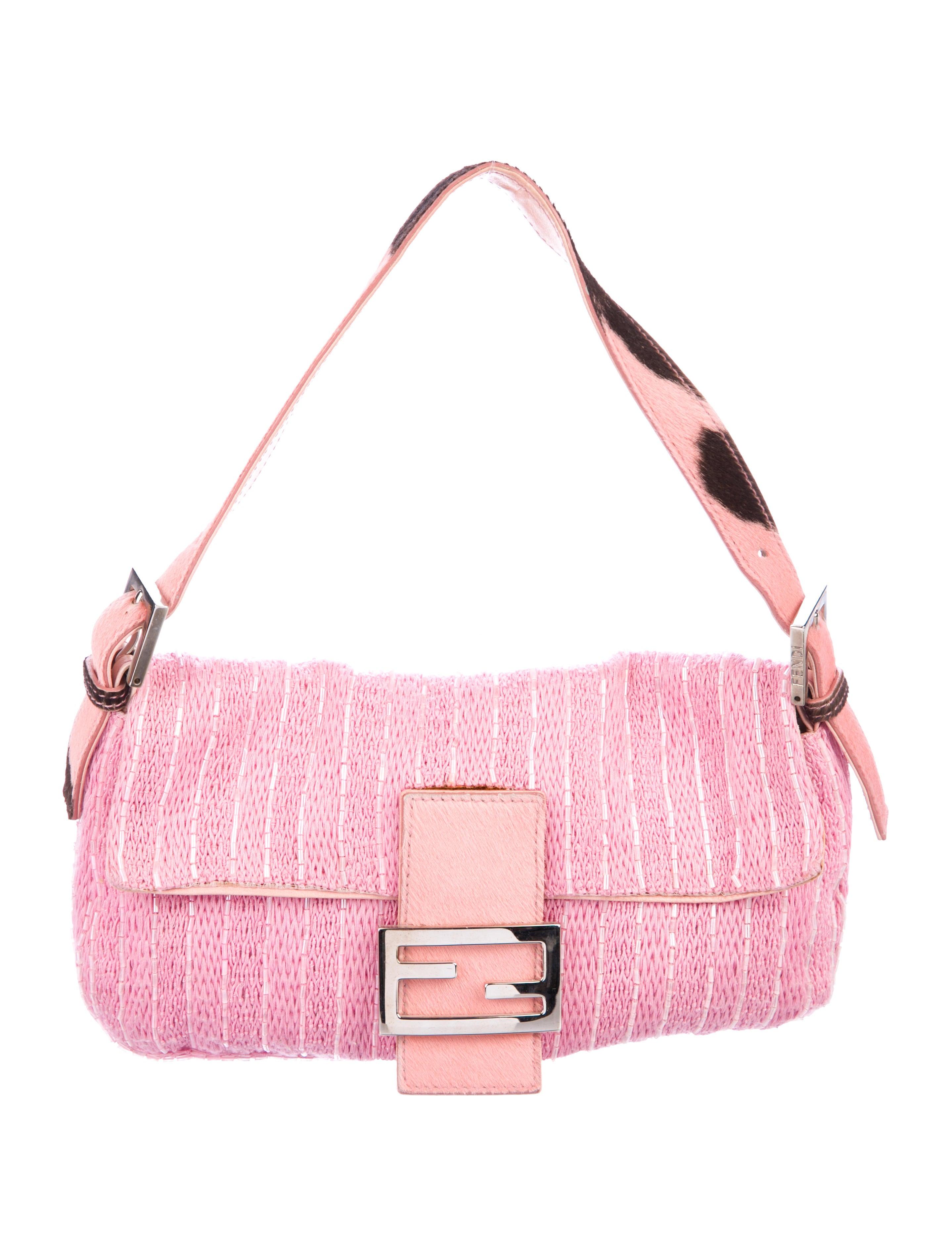 e8c25022586 Fendi Bead-Embellished Baguette Bag - Handbags - FEN81490   The RealReal