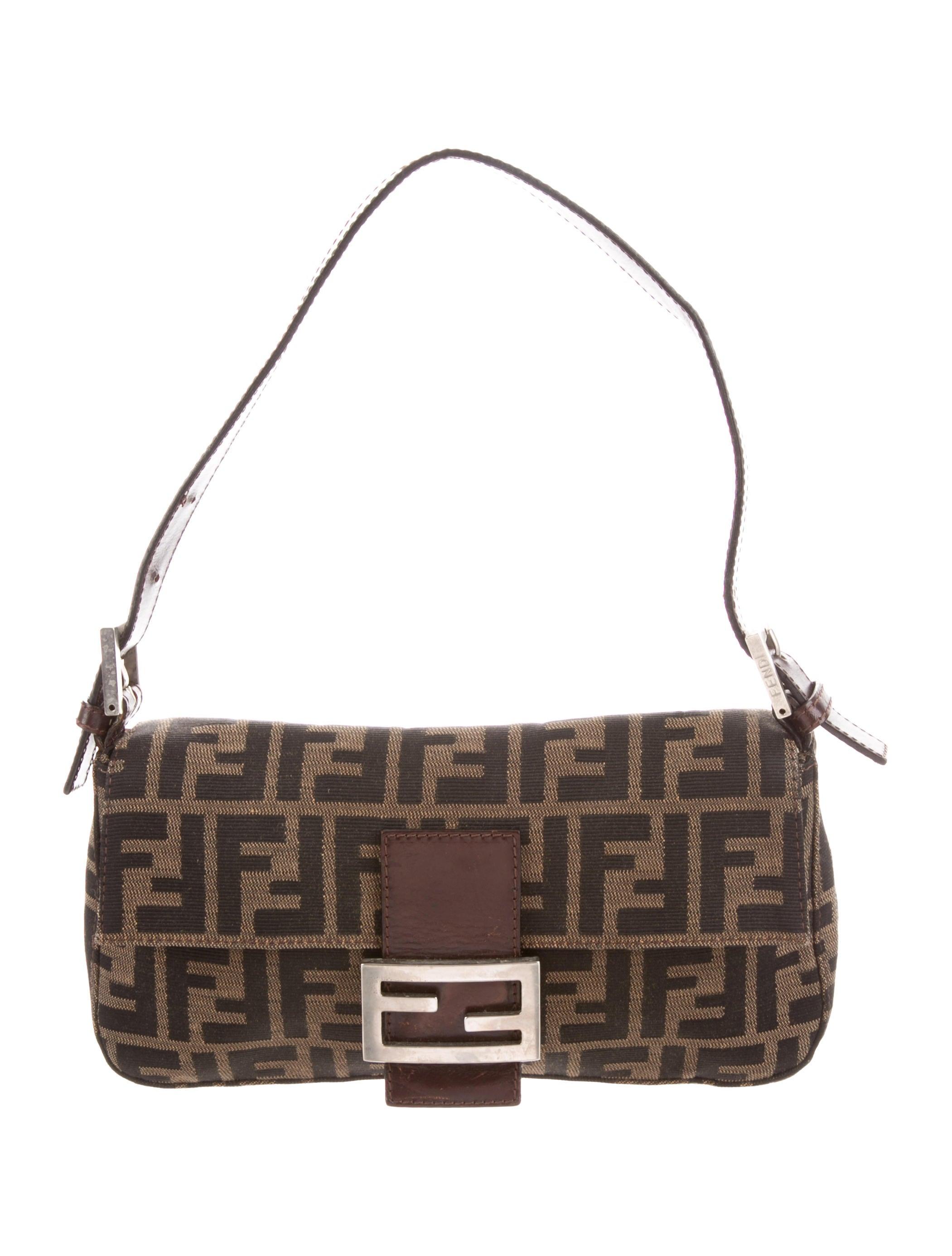 5bc5d29752e7 Fendi Zucca Baguette Bag - Handbags - FEN83294