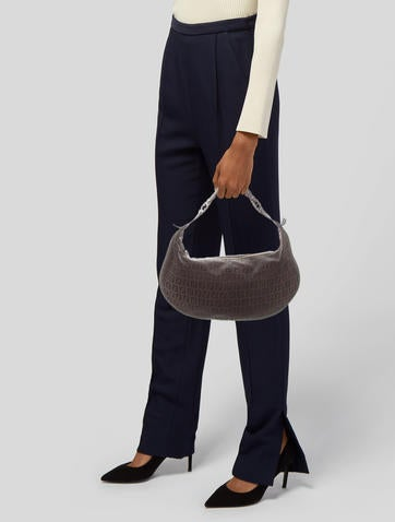 Fendi. Leather Trimmed Zucchino Shoulder Bag e0ca83ec454d5