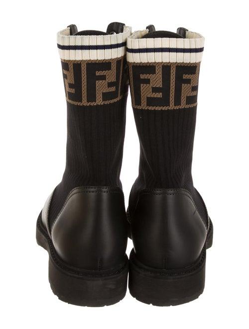 e05a69dbea8 Fendi Rockoko Leather and Knit Combat Boots w/ Tags - Shoes ...