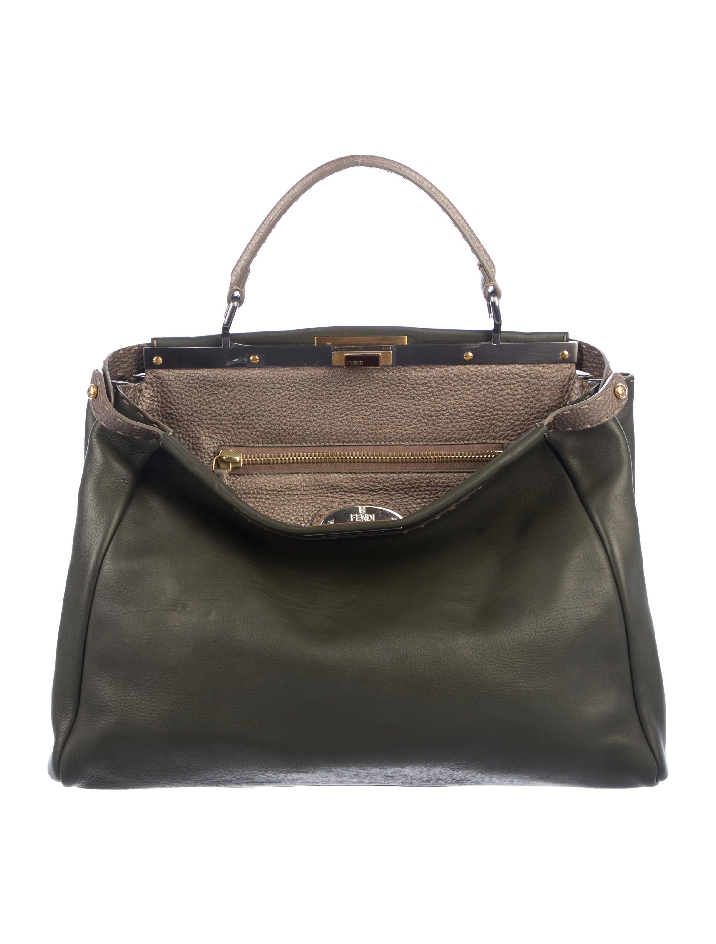 13da73d87d Fendi Selleria Large Peekaboo Bag - Handbags - FEN90596
