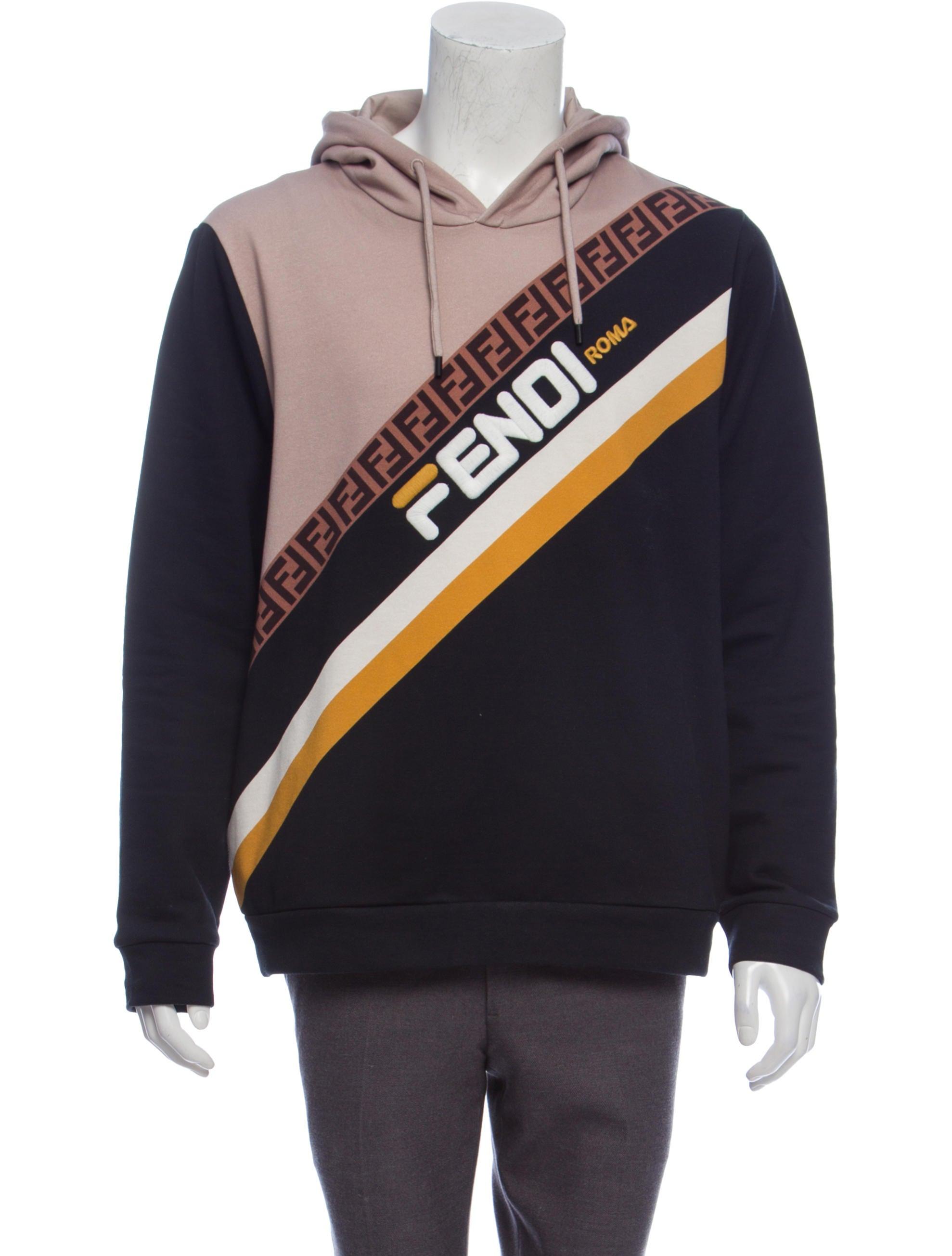 fabc3c7423b0 Fendi Zucca FF Trim Hoodie - Clothing - FEN93583