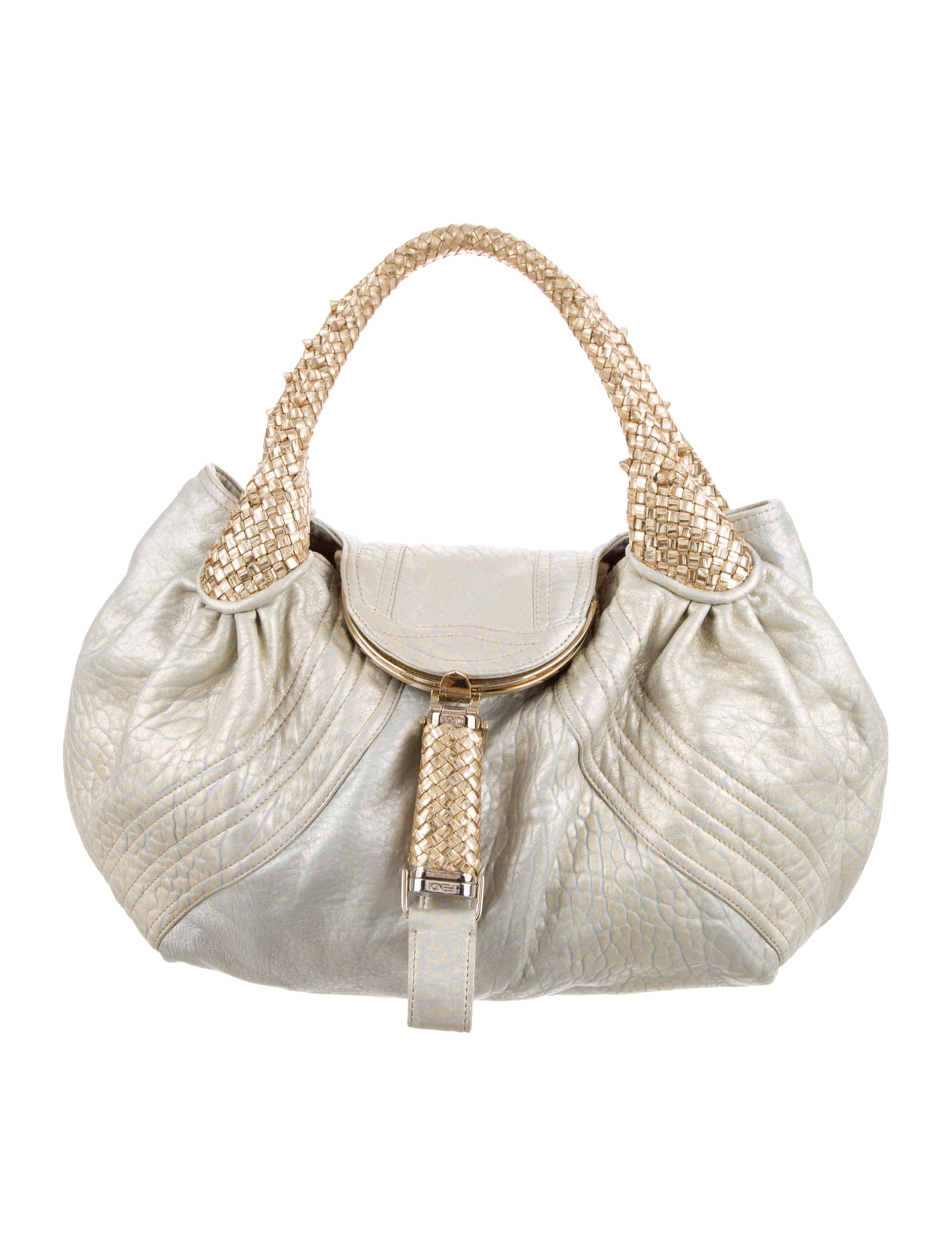 bfe8960af0e1 Fendi Metallic Spy Bag - Handbags - FEN93649