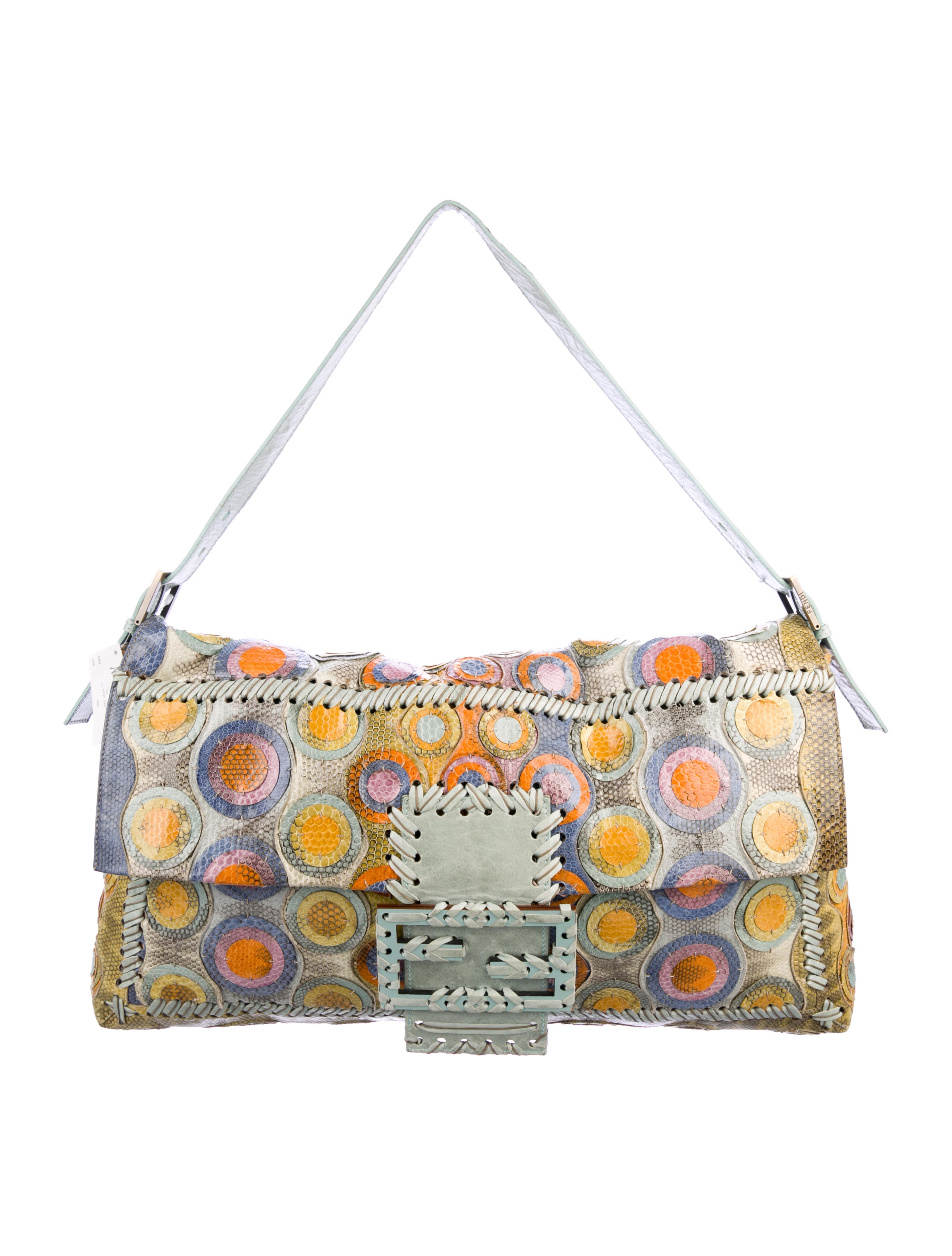 8142ddafc9e2 Fendi Maxi Snakeskin Baguette - Handbags - FEN94674