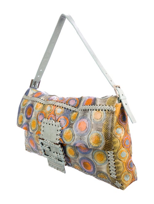 53ae45635bef Fendi Maxi Snakeskin Baguette - Handbags - FEN94674