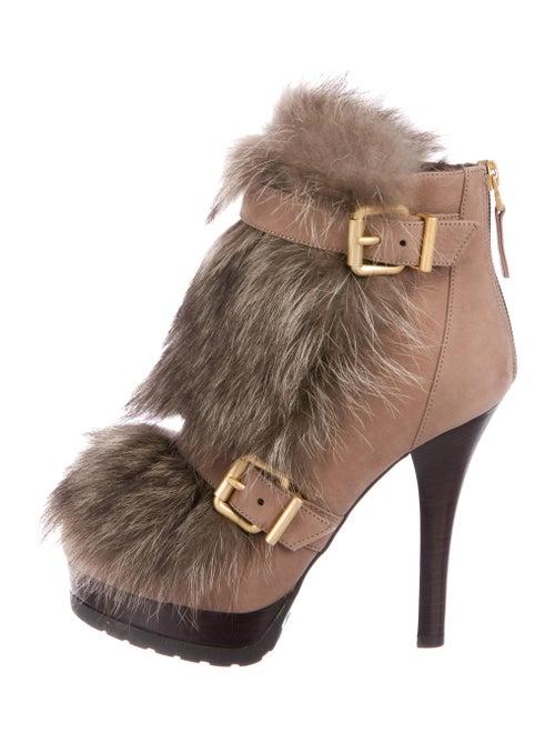 b503ca2861ac Fendi Fur Trim Ankle boots - Shoes - FEN95733