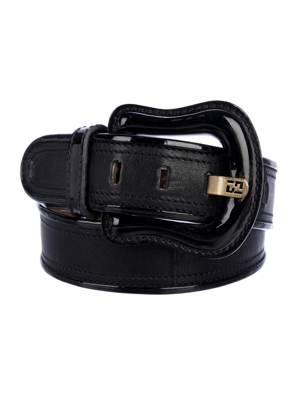 ad12e04766 Fendi Leather Buckle Belt - Accessories - FEN98957