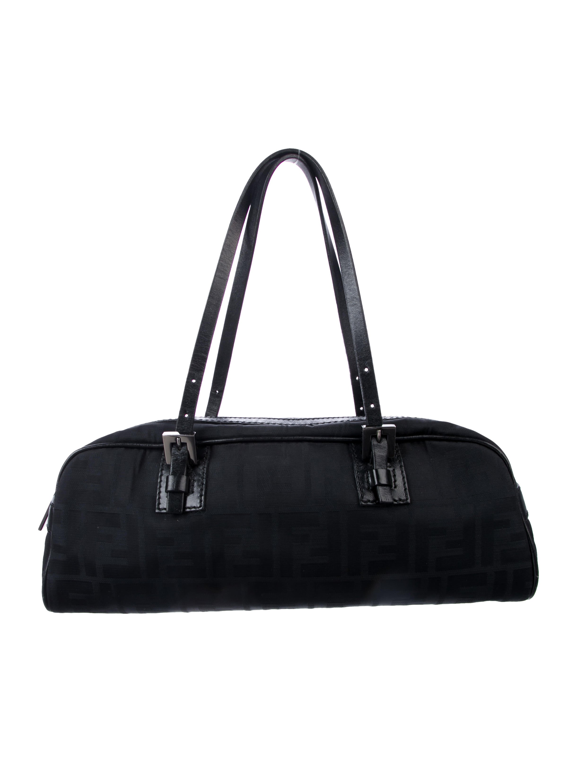 87ff005246 Fendi Leather-Trimmed Zucca Bag - Handbags - FEN99108