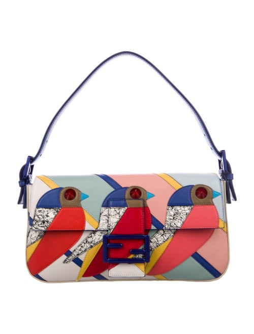 82351c9c177d Fendi Studded Geometric Bird Baguette - Handbags - FEN99144