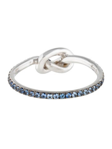 Sapphire Love Knot Ring
