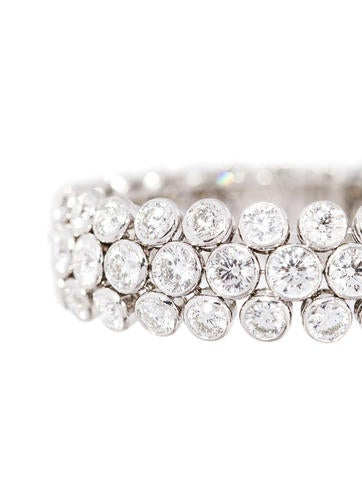 Platinum Diamond Bracelet 36.42ctw