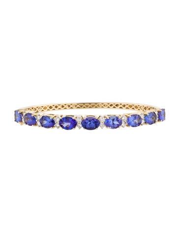 12.42ctw Tanzanite and Diamond Bracelet