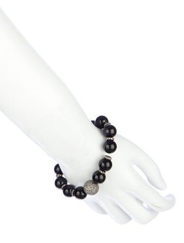 Onyx & Diamond Bead Bracelet