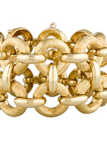 Double Circle Italian Gold Bracelet