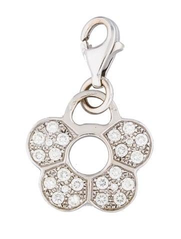Pavé Diamond Flower Charm Bracelet