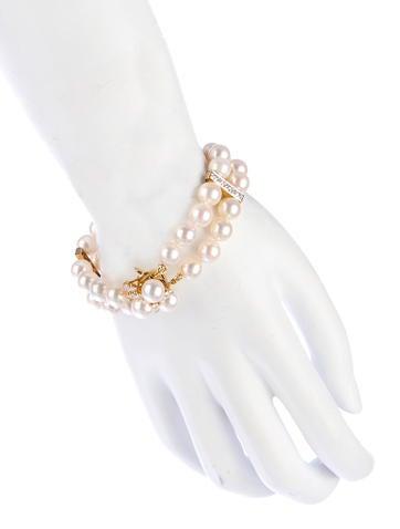 Akoya Pearl & 1.67ctw Diamond Bracelet
