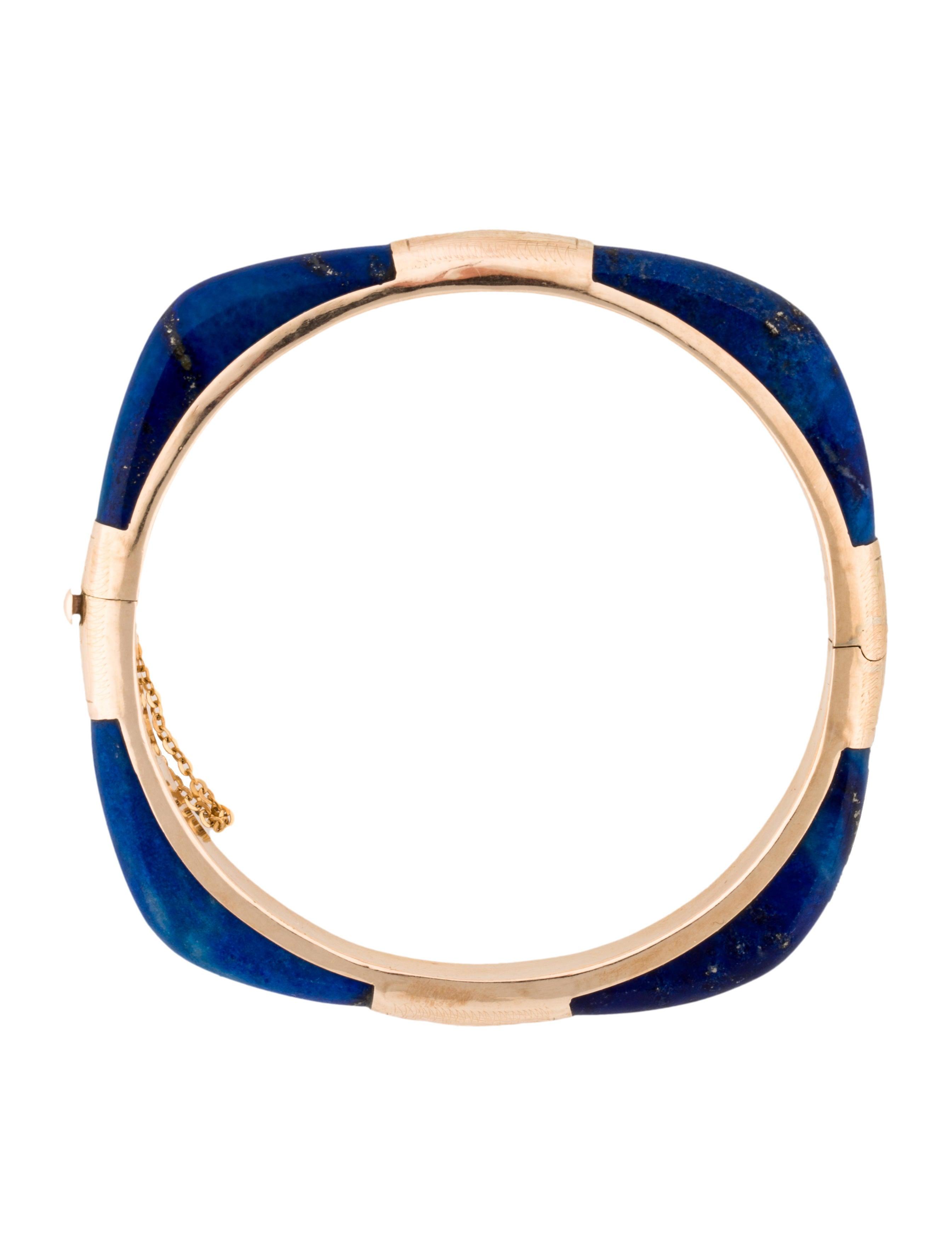 14k lapis lazuli bangle bracelets fjb22378 the realreal. Black Bedroom Furniture Sets. Home Design Ideas