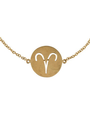 18K Aries Horoscope Symbol Bracelet