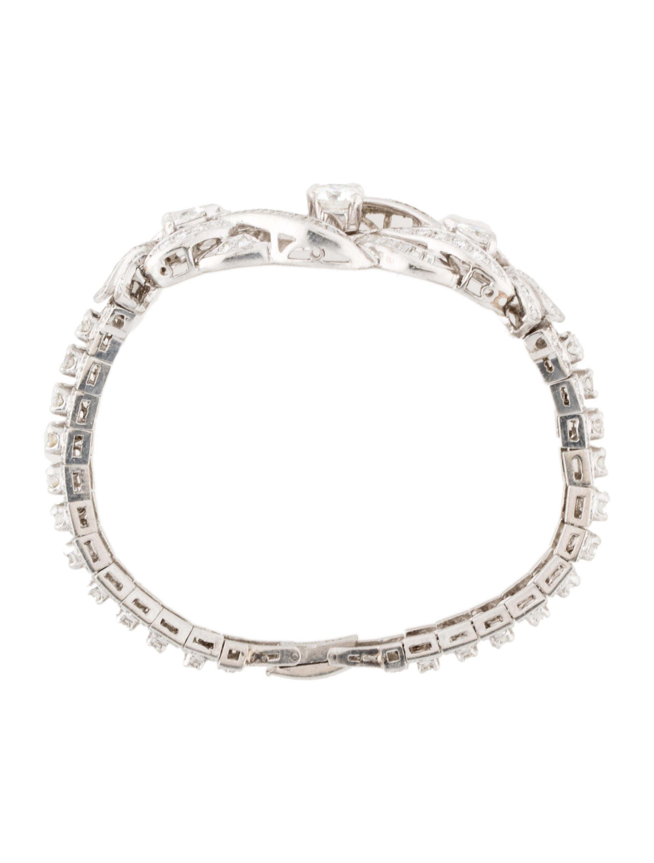 platinum 581ctw diamond bracelet bracelets fjb23116