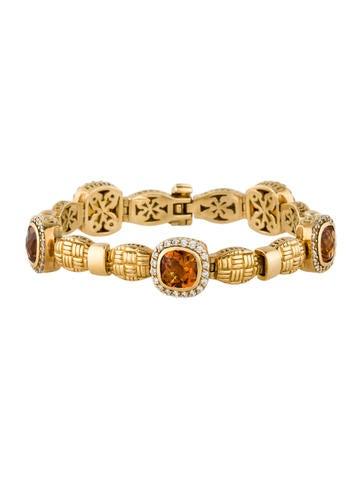 18K Citrine and Diamond Bracelet