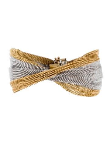 14K Two-Tone Mesh Bracelet