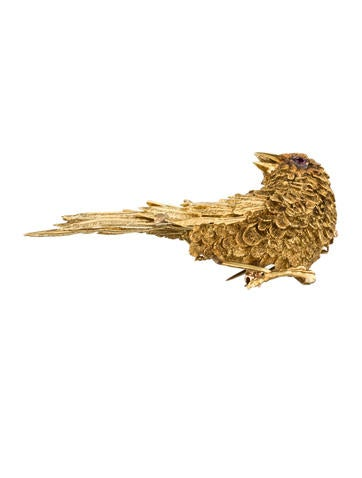 18K Bird Brooch