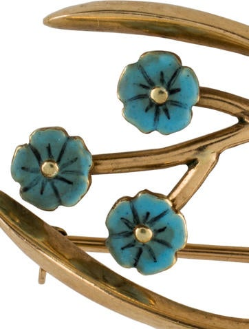 Wishbone Forget Me Knot Pin