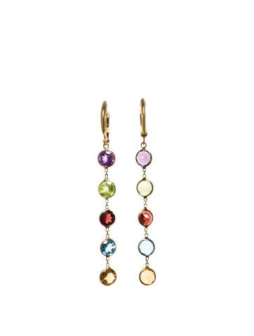 Multicolor Yellow Gold Earrings