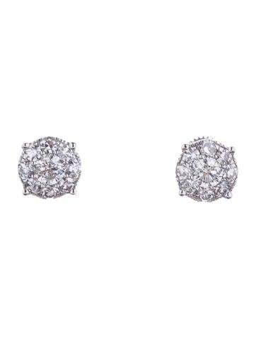 Diamond Cluster Earrings 1.50ctw